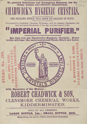 Advert For Chadwick's Hygienic Crystals